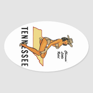 Pin-up du Tennessee Sticker Ovale