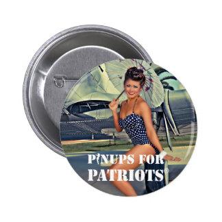 Pin-up pour des patriotes officiels badge rond 5 cm