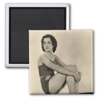 Pin-up vintage de vedette de film des années 1930 magnets