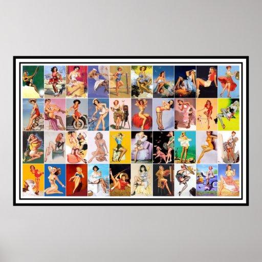 Pin vers le haut collage vintage d'impression d'ar poster