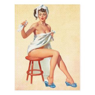 Pin vers le haut de fille cartes postales