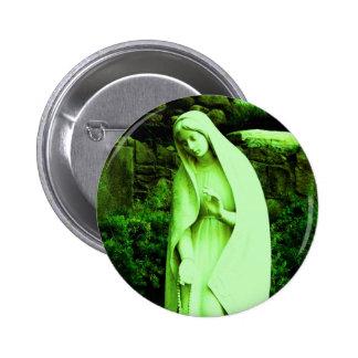 Pin vert changé de Vierge Marie Badge