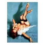 Pin vintage de Gil Elvgren VERS LE HAUT de fille a Cartes Postales