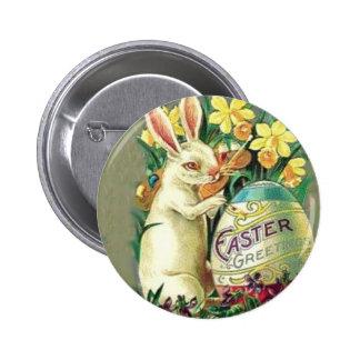 Pin vintage de lapin de Pâques Badge