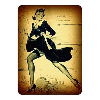 Pin vintage de pèlerin de quaker de thanksgiving carton d'invitation  12,7 cm x 17,78 cm