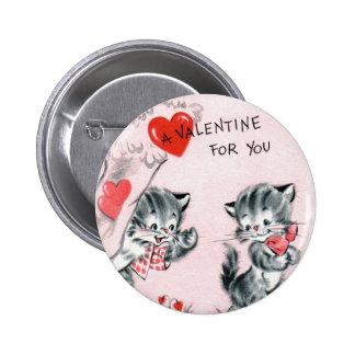 Pin vintage de Valentine du chaton de l'enfant Pin's