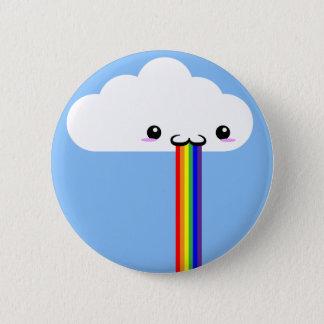 Pin vomissant d'arc-en-ciel de nuage badges