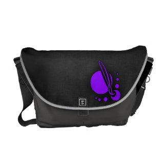 Pinceau pourpre violet d'artiste sacoche