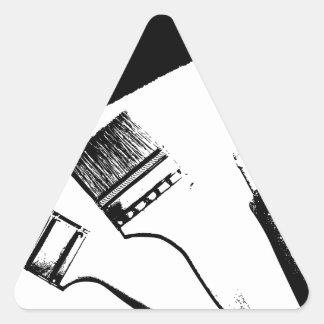 pinceaux sticker triangulaire