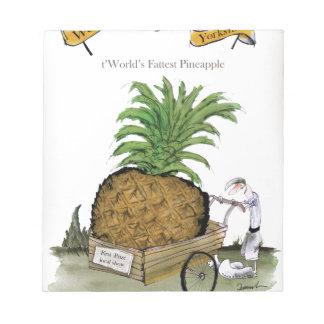 Pineapple du monde de Yorkshire d'amour le 'plus Bloc-note
