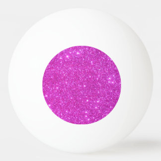 Ping-pong Girly scintillant rose de boule de Balle Tennis De Table