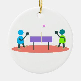 ping-pong ornement rond en céramique