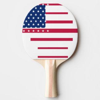 Ping-pong patriotique de ping-pong de drapeau raquette tennis de table