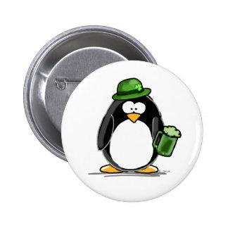 Pingouin avec de la bière verte pin's