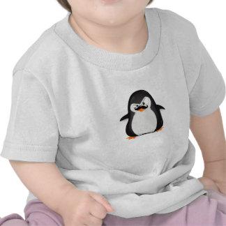 Pingouin blanc noir mignon et moustache drôle t-shirts