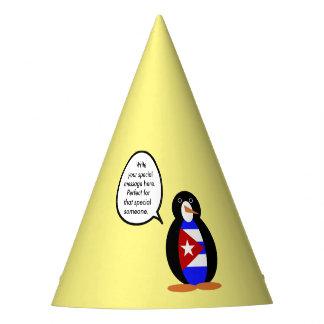 Pingouin cubain parlant de drapeau chapeaux de fètes