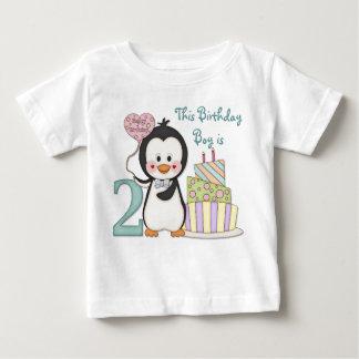 Pingouin Cutie - de garçon anniversaire en second T-shirt Pour Bébé