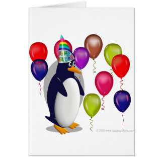 Pingouin d'anniversaire cartes