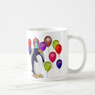 Pingouin d'anniversaire mug blanc