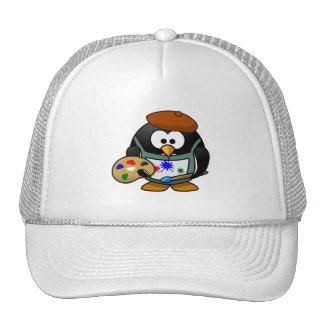 Pingouin d'artiste casquette de camionneur