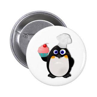 Pingouin de Baker avec le petit gâteau II Badges