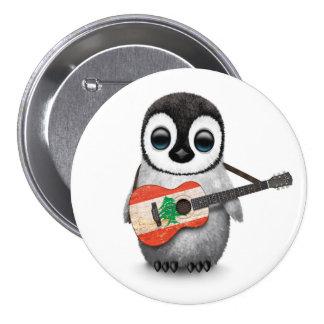 Pingouin de bébé jouant la guitare libanaise de pin's