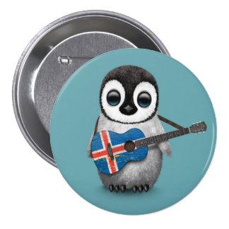 Pingouin de bébé jouant le bleu islandais de badges