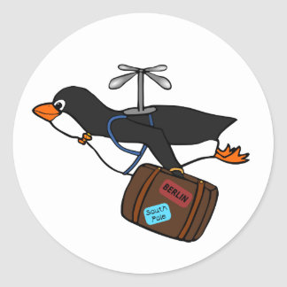 Pingouin de déplacement d hélicoptère de vol avec