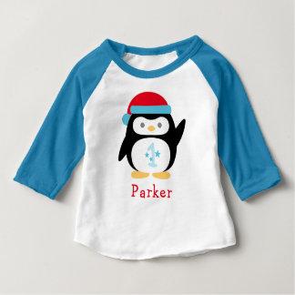 Pingouin de l'anniversaire   d'ONEderland d'hiver T-shirt Pour Bébé
