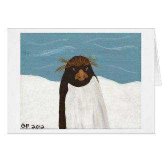 Pingouin de macaronis carte de vœux