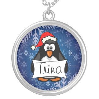 Pingouin de Noël Collier