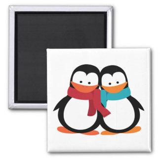 Pingouin de Noël Magnet Carré