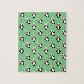 Pingouin de Noël Puzzle