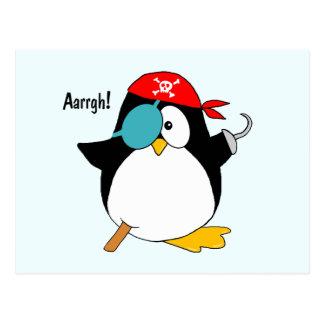 Pingouin de pirate carte postale