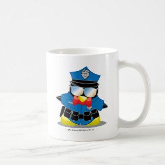 Pingouin de police mugs