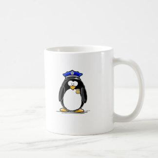 Pingouin de policier mug blanc