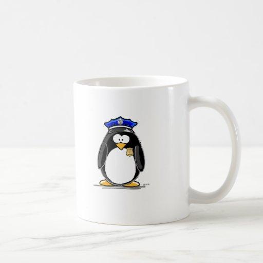 Pingouin de policier mug à café