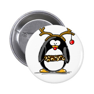 Pingouin de Rudolph Badge