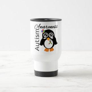 Pingouin de sensibilisation sur l'autisme mug de voyage en acier inoxydable