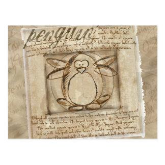 Pingouin de Vitruvian Carte Postale