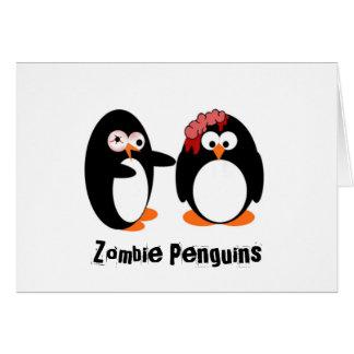 Pingouin de zombi carte de vœux