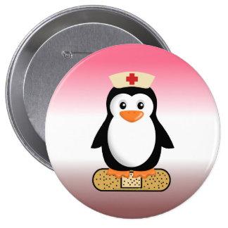Pingouin d'infirmière (w/bandaid) badge