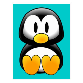 Pingouin drôle mignon de bébé carte postale