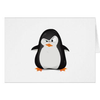 Pingouin fâché carte de vœux