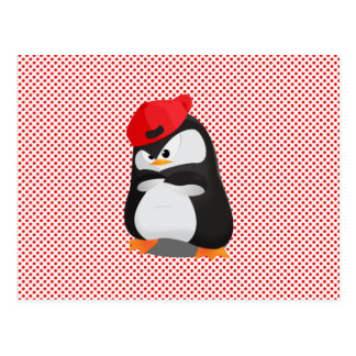 Pingouin fâché de hip hop carte postale