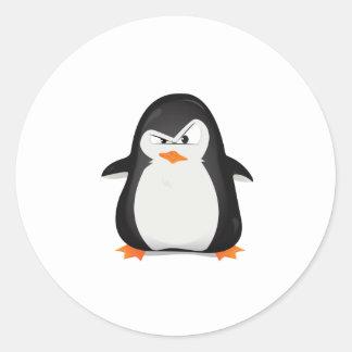 Pingouin fâché sticker rond