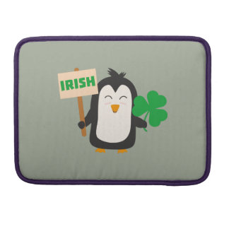 Pingouin irlandais avec le shamrock Zjib4 Poches Pour Macbook Pro