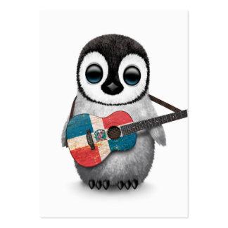 Pingouin jouant la guitare de drapeau de la cartes de visite personnelles