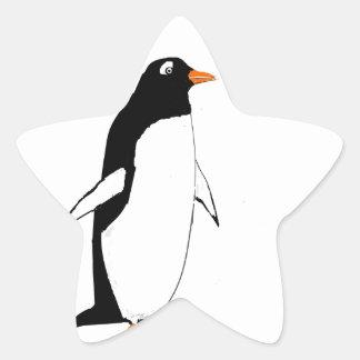 Pingouin mignon autocollants en étoile