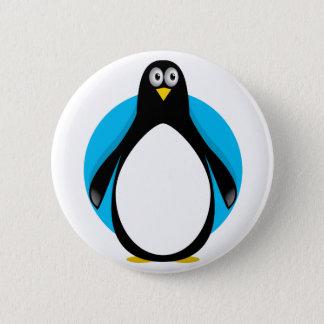 Pingouin mignon badge
